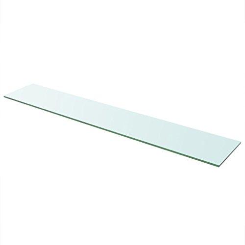 vidaXL Glasboden Glasscheibe Glasplatte für Glasregal Transparent 110 cm x 20 cm