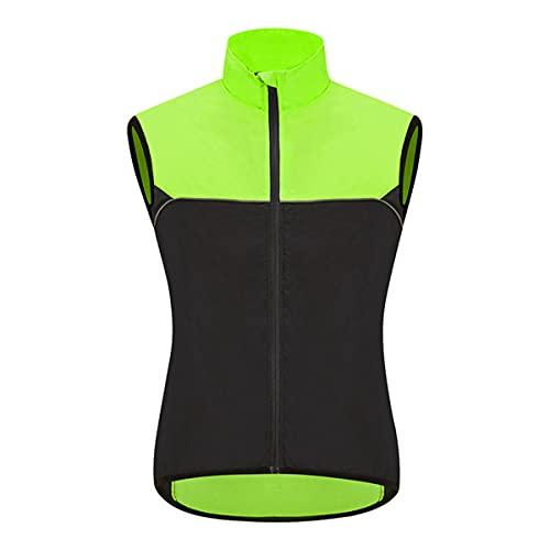 YLJXXY Chaleco Reflectante de Seguridad para Ciclismo, Chaleco Reflectante para Correr, Sin Mangas Cortavientos de Ciclismo para Hombres, Bicicleta, Trotar, Motocicleta