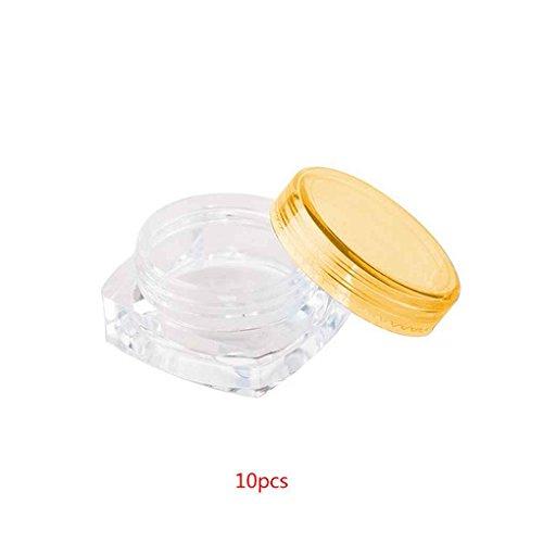 Zerama 10PCS Place Effacer Couleurs Mixtes cosmétiques Pot Vide Maquillage Pot Visage Crème Contour des Yeux Ombre conteneur Boîte 3G / 5 g
