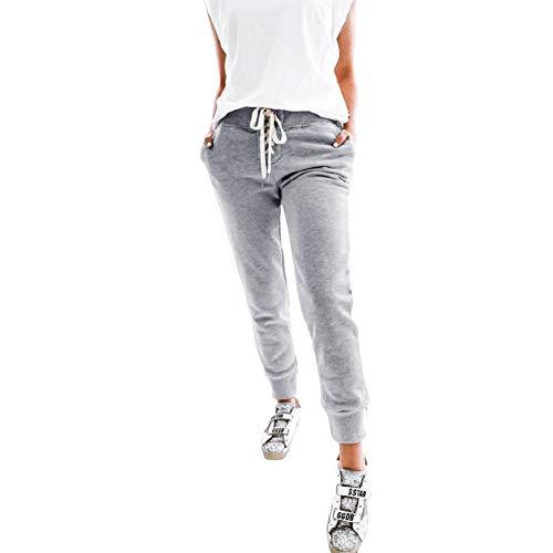 Pantalones De Chándal Moda De Tiras Mujer Empalme Festivo Con Bolsillos Pantalones De Chándal Pantalones Primavera Otoño Mujer Sencillamente Cómodo Deportes Básicos Fitness Pantalones Casuales Al