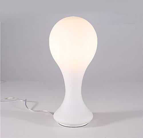 BANANAJOY Lámparas de Mesa, Personalidad Simple Moderna Minimalista Dormitorio lámpara de cabecera, Luces de Cristal de Estar Sala de Estudio Lectura Moda luz de la Noche