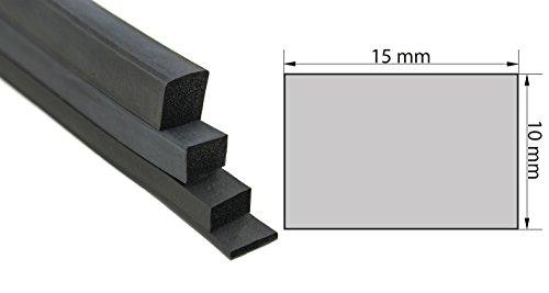 Vierkantprofil Moosgummi Profil
