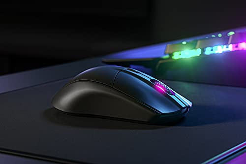 SteelSeries Rival 3 Wireless Gaming Mouse - 400+ Hour Battery Life - Dual Wireless 2.4 GHz and Bluetooth 5.0-60 Million Clicks - 18,000 CPI TrueMove Air Optical Sensor (62521)