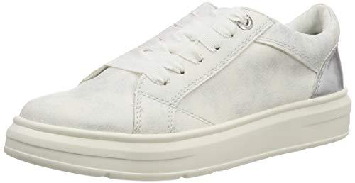s.Oliver Damen 5-5-23627-22 192 Sneaker, Wht Silv. Comb, 38