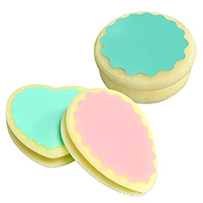 3PCS Magic Hair Removal Sponges, Heart/Waterdrop/Circle Shaped Body Exfoliator Pads Non-Irritation Painless Hair Removal Depilation Sponges, Face, Leg, Arm and Body Physical Hair Removal Tool
