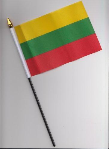 Lituania bandera de la mano 25cm
