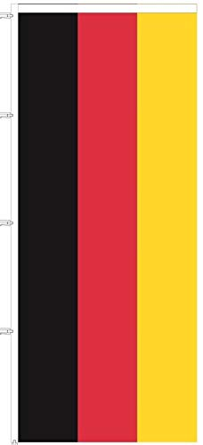 BGFint Deutschland Flagge Fahne 120 x 300 cm Nationalflagge Nationalfahne Stoff 110g / qm