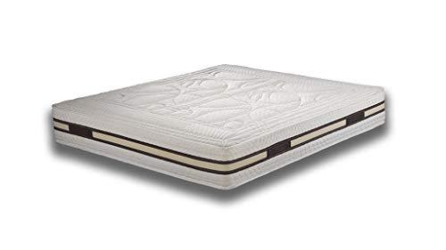 Secilflex Alisea Re Materasso Matrimoniale Memory Foam con Adattamento Perfetto, Top Sfoderabile (120x190 cm)