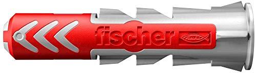 Fischer Duopower universele pluggen voor het bevestigen van hangkasten, wandrekken in beton, metselwerk, plaatbouwmaterialen enz. Standaard 5 x 25 mm