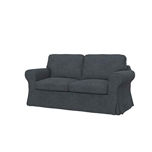Soferia Funda de Repuesto para IKEA EKTORP sofá Cama de 2 plazas, Tela Strong Dark Grey, Gris