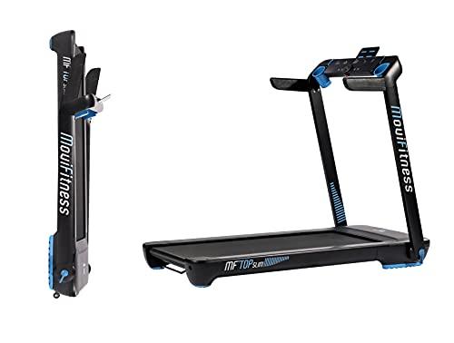 Movi Fitness Tapis roulant TOP SLIM - salvaspazio - inclinazione elettrica, Nero, Taglia unica