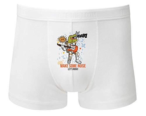 Boxershort - Rockstar Astronaut Dinosaurier Cartoon - Unterhose für Herren und Männer
