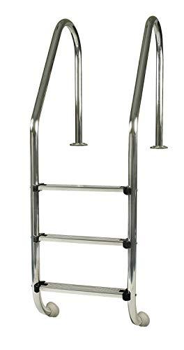 Gre 40110 - Scaletta in acciaio inox standard per piscina interrata, 154 cm