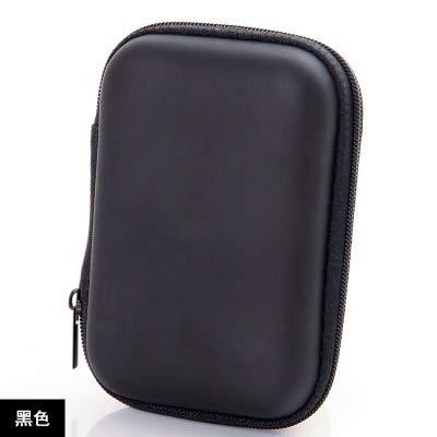 Mdsfe nieuwe hoofdtelefoonhoes met ritssluiting, leren hoofdtelefoonhoes, opbergbox, draagbare USB-kabel-organizer met harde tas voor munt-geheugenkaartenboxen - a, A2