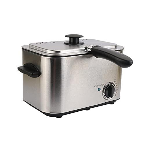 Freidora Eléctrica De Temperatura Constante, Mini Freidora De Pollo Frito Con Patatas Fritas De Acero Inoxidable,1.2L