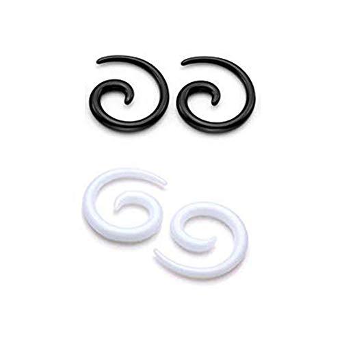 MQSS Acryl Mix Spirale Schnecke Taper Dehnschnecken Ohr Dehnspirale Piercing Dehnstab Dehnungsstab Dehnungsset - Dehnstab Acryl 8G: 3mm