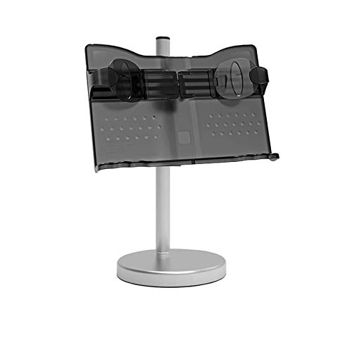 Book Stand &Holders for Reading Hands Free, Cookbook/Document/Bible Recipe Cook Book/Textbooks/Ipad/Music Holder Stand for Kitchen Counter/Desk, with Large Page Paper Clips Holder for Typing