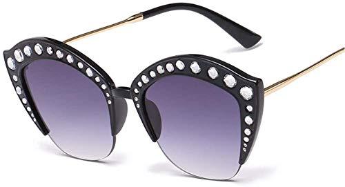 Gafas de Sol Cat Eye para niñas y Mujeres Glittery Crystal Sexy Lady Gafas de Sol Cat Lady para Mujer Protección UV400-G2 Uptodate