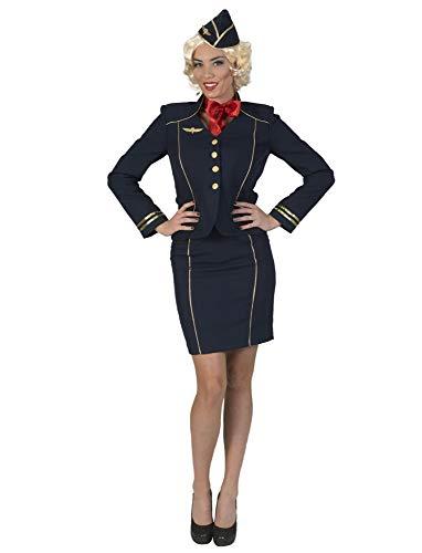 Funny Fashion Stewardess Flugbegleiterin Kostüm Fiona - Gr. 44/46