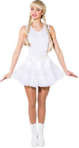 O40016-34-38 weiß Damen Petticoat Garde Kostüm Gr.34-38