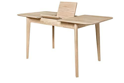Nordicstory - Tavolo da pranzo allungabile France, in legno massello di quercia, stile nordico o...