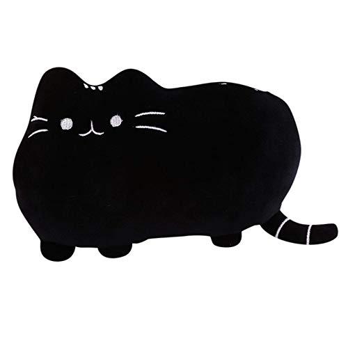 Morbido peluche carino gatto forma cuscino cuscino cuscino cuscino cuscino cuscino divano giocattolo decorazione casa tinta unita A