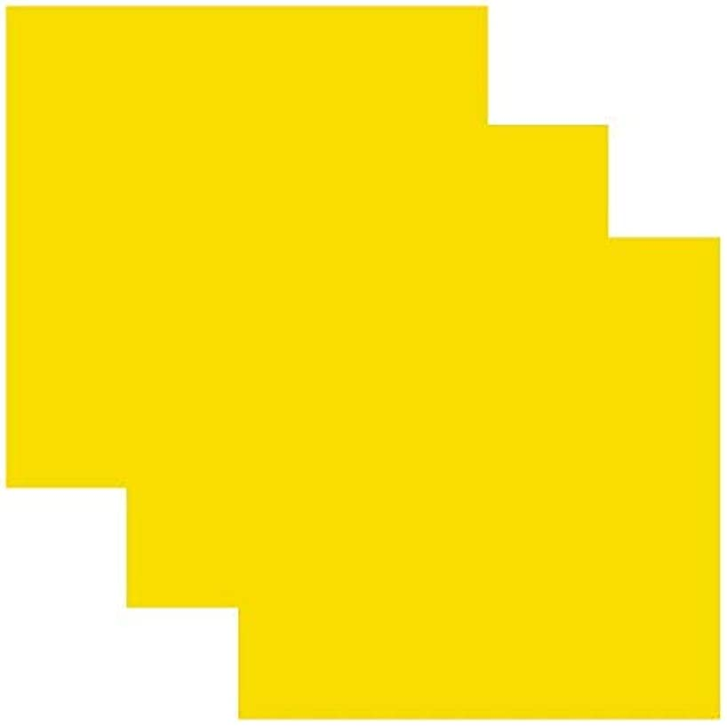 SISER EasyWeed Heat Transfer Vinyl HTV for T-Shirts 12 x 12 Inches 3 Precut Sheets (Yellow)