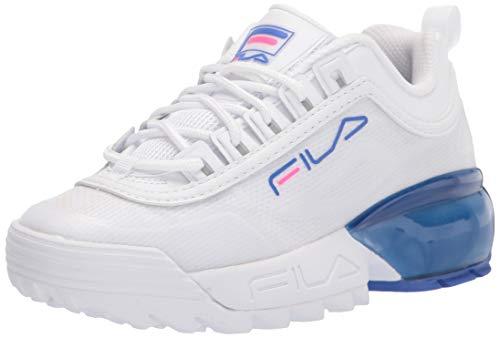 Fila womens Fila Women's Disruptor 2a Sneaker, White/Amparo Blue/Magenta, 10 US