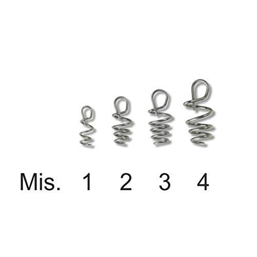 STONFO Doux Leurre de Ressorts, épais en Silicone Leurre Crochets Tackle Pike Rig Bait 6 pcs. Size 4 - One Bag (6pcs)