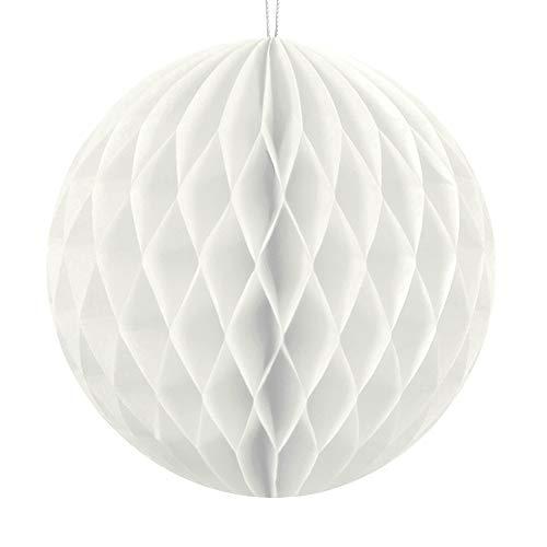 DekoHaus Wabenball 10cm, 20cm oder 30cm viele Farben Honeycomb Wabenbälle aus Seidenpapier (Weiß, 20cm)