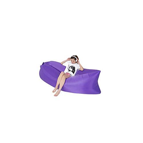 BANGSUN Tumbona inflable portátil sofá tumbonas bolsa perezosa para interiores y exteriores, color morado