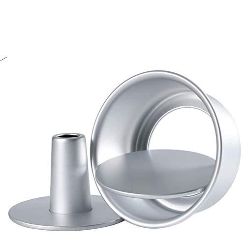 LCZ Chiffon-Kuchen-Form für Metall-Runde Kuchenform mit abnehmbarem Fund, Cheesecake Backblech, Werkzeug Kuchen Bakeware,6inch