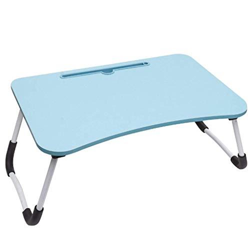 XBSXP Mesa portátil plegable para portátil, mesa auxiliar de cama, soporte de escritorio para computadora portátil, mesa de café, sofá con dormitorio, lectura hospitalaria, 24 – 60 x 40 x 28 cm