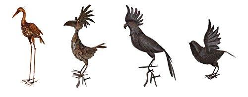Dekorative Vogelskulpturen aus Metall - Gartenfiguren Tierfiguren Vogelfiguren (Vogel)
