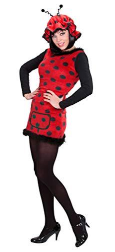 Karneval-Klamotten sexy Marienkäfer Kostüm Erwachsene für Damen mit Marienkäfer Mütze mit Fühler