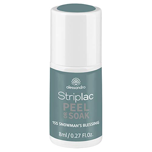 alessandro Striplac Peel or Soak Snowman's Blessing - LED-Nagellack in Blaugrau - Für perfekte Nägel in 15 Minuten, 8 ml