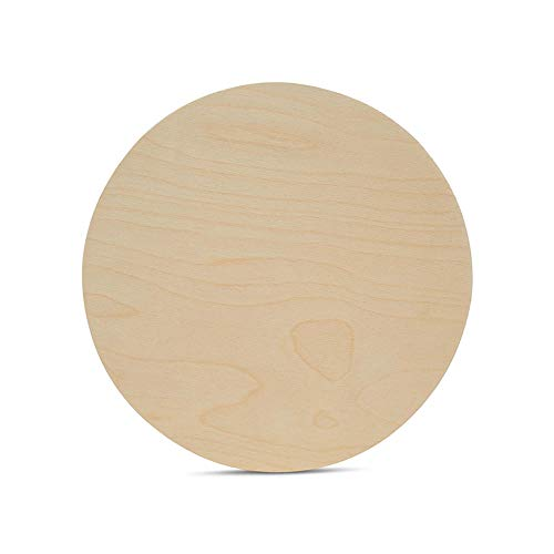 Wood Plywood Circles 10 inch, 1/4 Inch Thick, Round Wood Cutouts, Pack of 3 Baltic Birch Unfinished Wood Plywood Circles for Crafts, by Woodpeckers