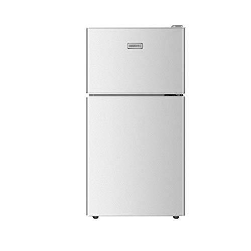 QINGZHUO Nevera eléctrica,refrigerador con congelador de 2 Puertas,Funcionamiento silencioso, Dormitorio o salón.