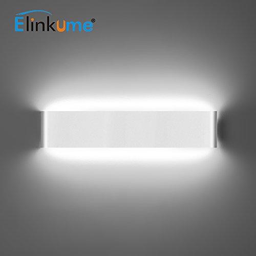 ELINKUME 14W Aluminium Acryl Moderne LED-Wandleuchte 85-265V Up Down Moderne Wandlampen Innen mit 70 LEDs 2835 1540 Lumen Kaltweiß