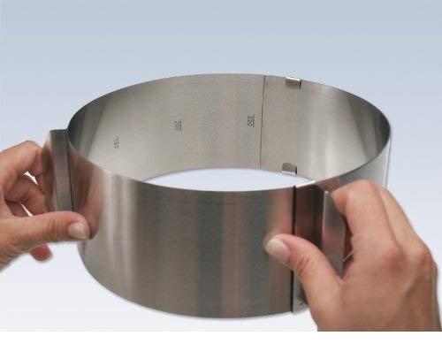 Anello per torte con gradazione, altezza: 8,5 cm, regolabile di 16-30 cm by TARGARIAN