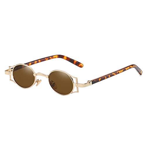 ZZOW Gafas De Sol Redondas Punk Únicas Clásicas Clásicas para Mujer, Gafas De Sol con Lentes Tintadas De Diseñador De Marca, Gafas para Exteriores para Hombre, Gafas De Sol Uv400