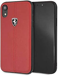 Ferrari Heritage Hard Case - W Vertical Contrasted Stripe for iPhone Xr - Red