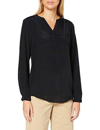 Seidensticker Damen Bluse – Fashion Bluse - Tunikabluse - V-Neck - Regular Fit – Langarm, Black Beauty, 42