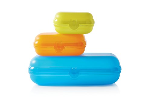 TUPPERWARE To Go Maxi-Twin blau + Twin hellgrün Gr.2 + lila Gr.2 Brotdose Twin