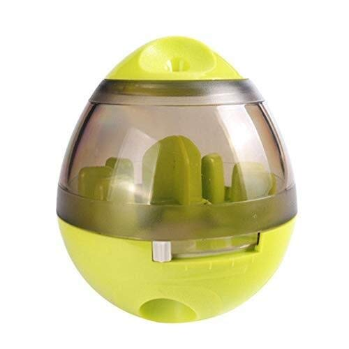 TD Haustier Hund Katze IQ Test Treat Spender Futterball Spenden Welpenfutter Futter Spielzeug Langlebig rutschfest (Color : Green)