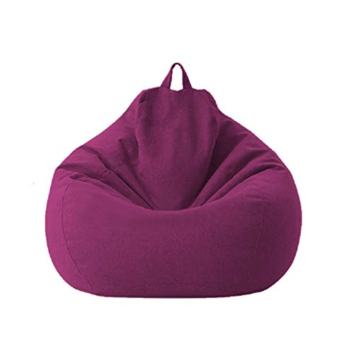 Posh Beanbags Big Comfy Bean Bag Posh Large Beanbag Chairs with Removable Cover for Kids, Teens and Adults Polyester Cloth Puff Sack Lounger Furniture for All Ages Waterproof (Purple, 7080cm)