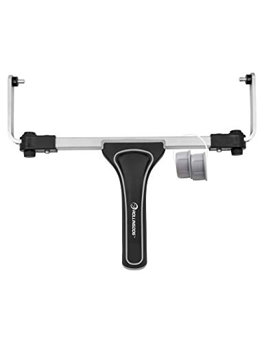 ROLLINGDOG 12-18' Adjustable Paint Roller Frame with Light Weight Aluminum Frame and Ergonomic Rubber Grip, for Large Area Brushing,Ceiling,Wall Decorating, Attached to Threaded End Extension Pole