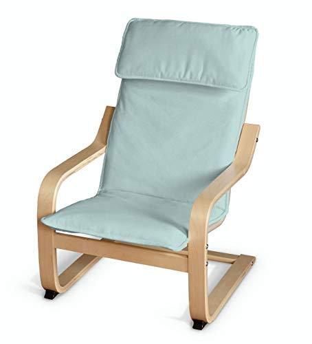 Dekoria Poäng Kissen für den Kindersessel Sesselhusse passend für IKEA Modell Klappsta hellblau