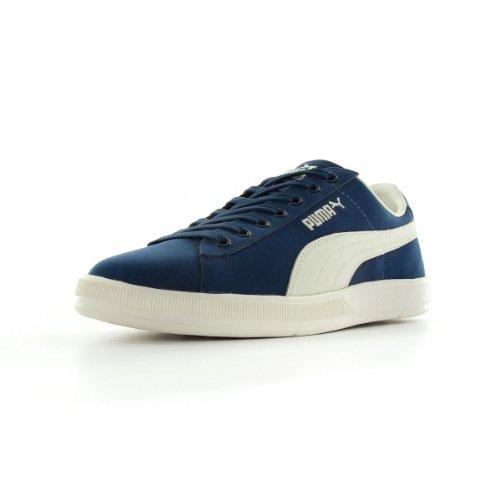 Puma Archive lite low Nubuk - Zapatillas de deporte de cuero para hombre azul Bleu denim et blanc 41