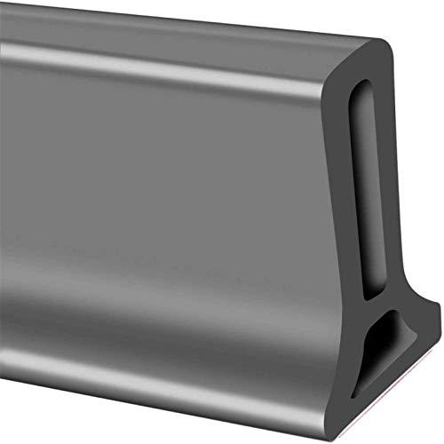 Tira impermeable de silicona flexible, umbral de ducha, tapón de agua de presa de agua, sello de piso del baño, parada de flujo de agua para separación húmeda y seca (50cm,gris)